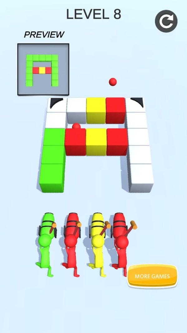 射爆方块游戏